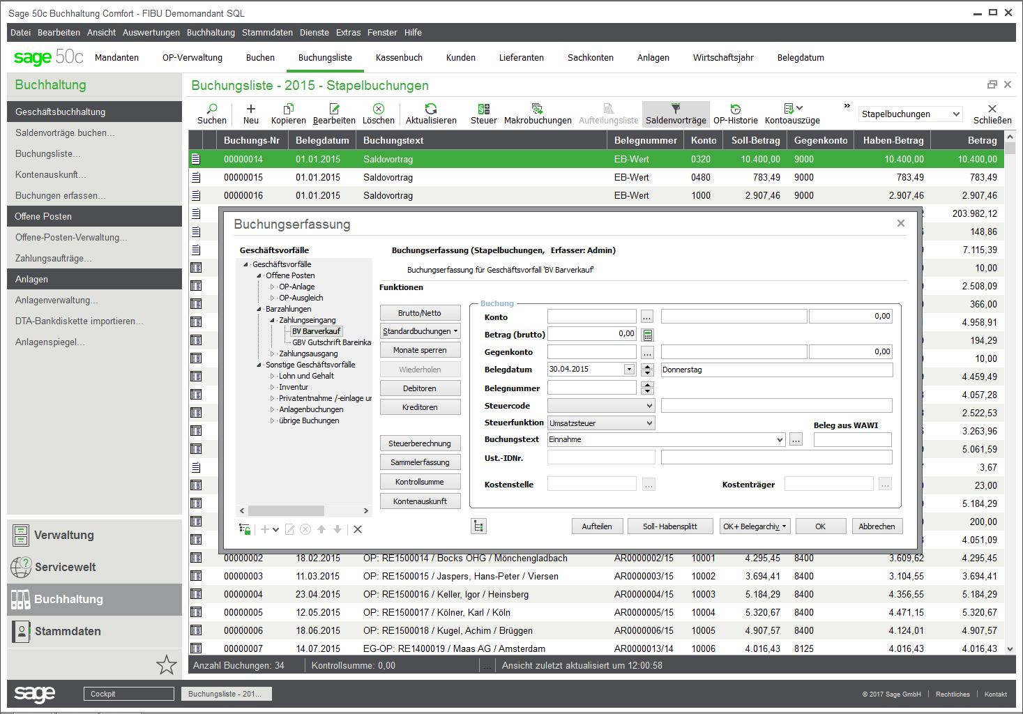 Sage 50 Finanzbuchhaltung